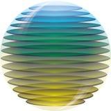 τρισδιάστατη χρωματισμένη σφαίρα Στοκ φωτογραφίες με δικαίωμα ελεύθερης χρήσης