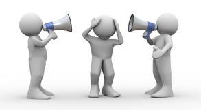τρισδιάστατη megaphone ανθρώπων ανακοίνωση απεικόνιση αποθεμάτων