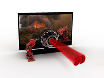 τρισδιάστατη TV Στοκ Εικόνες