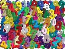 τρισδιάστατοι αριθμοί - διάνυσμα Στοκ φωτογραφία με δικαίωμα ελεύθερης χρήσης