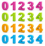 τρισδιάστατοι αριθμοί διανυσματική απεικόνιση