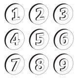 τρισδιάστατοι αριθμοί Στοκ εικόνα με δικαίωμα ελεύθερης χρήσης