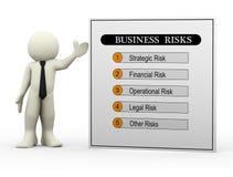 τρισδιάστατοι κίνδυνοι επιχειρηματιών και επιχειρήσεων διανυσματική απεικόνιση