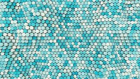 τρισδιάστατοι κυματιστοί hexagons σωλήνες, 4k βίντεο απεικόνιση αποθεμάτων