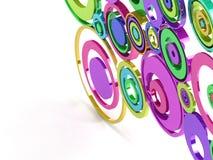 τρισδιάστατοι κύκλοι Στοκ φωτογραφία με δικαίωμα ελεύθερης χρήσης