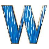 τρισδιάστατοι μπλε αλφάβητο και αριθμοί στο υλικό γυαλιού και χαλκού στοκ φωτογραφίες με δικαίωμα ελεύθερης χρήσης