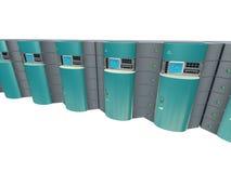 τρισδιάστατοι μπλε κεντρικοί υπολογιστές διανυσματική απεικόνιση