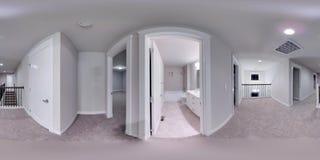 τρισδιάστατοι σφαιρικοί 360 βαθμοί απεικόνισης, άνευ ραφής πανόραμα ενός σπιτιού Στοκ Φωτογραφίες
