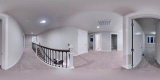 τρισδιάστατοι σφαιρικοί 360 βαθμοί απεικόνισης, άνευ ραφής πανόραμα ενός σπιτιού Στοκ εικόνα με δικαίωμα ελεύθερης χρήσης