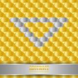 τρισδιάστατοι χρυσός και ασήμι σχήματος σωλήνων άποψης ως υπόβαθρο διανυσματική απεικόνιση