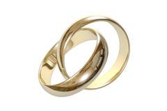 τρισδιάστατος γάμος δαχτυλιδιών Στοκ Εικόνες