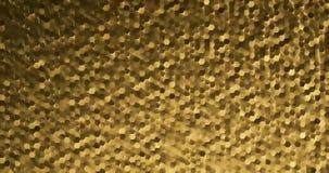 τρισδιάστατος δίνοντας θόρυβος hexagon υπόβαθρο στο χρυσό χρώμα ελεύθερη απεικόνιση δικαιώματος