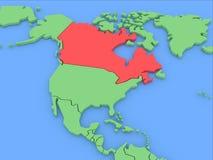 τρισδιάστατος διαστατικός απομονωμένος χάρτης τρία του Καναδά απεικόνιση αποθεμάτων