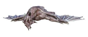 τρισδιάστατος δράκος βαμπίρ φαντασίας απόδοσης στο λευκό Στοκ Φωτογραφία