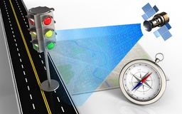 τρισδιάστατος δρόμος ασφάλτου Στοκ Εικόνα