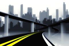 τρισδιάστατος δρόμος πόλ&ep διανυσματική απεικόνιση
