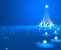 τρισδιάστατος δώστε ενός χριστουγεννιάτικου δέντρου των καμμένος αστεριών διανυσματική απεικόνιση
