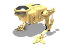 τρισδιάστατος δώστε ενός two-legged ρομπότ στοκ φωτογραφία