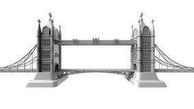 τρισδιάστατος δώστε μιας αγγλικής γέφυρας σε ένα άσπρο υπόβαθρο Στοκ Εικόνες
