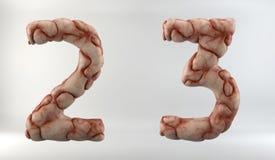 τρισδιάστατος δώστε του αλφάβητου εγκεφάλου στοκ εικόνα