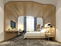 τρισδιάστατος δώστε του δωματίου ξενοδοχείων πολυτελείας Στοκ φωτογραφία με δικαίωμα ελεύθερης χρήσης