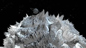 τρισδιάστατος δώστε του κοσμικού τοπίου ως υπόβαθρο ή περιβάλλον Πλανήτης από τη διαστημική άποψη από το διαστημικό σκάφος πολύ λ διανυσματική απεικόνιση