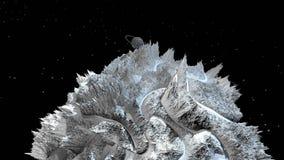 τρισδιάστατος δώστε του κοσμικού τοπίου ως υπόβαθρο ή περιβάλλον Πλανήτης από τη διαστημική άποψη από το διαστημικό σκάφος πολύ λ απεικόνιση αποθεμάτων