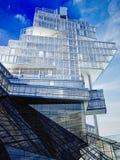 τρισδιάστατος δώστε του σύγχρονου skyscaper το εξωτερικό οικοδόμησης στοκ φωτογραφία με δικαίωμα ελεύθερης χρήσης