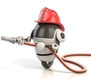 τρισδιάστατος εθελοντής πυροσβέστης ρομπότ απεικόνιση αποθεμάτων