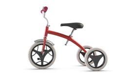 τρισδιάστατος επεξηγήστε του τρίκυκλου ρόδινου ποδηλάτου των παιδιών που απομονώνεται στο άσπρο υπόβαθρο στοκ φωτογραφίες με δικαίωμα ελεύθερης χρήσης