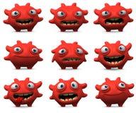 τρισδιάστατος ιός Στοκ Εικόνες