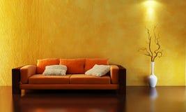 τρισδιάστατος καναπές απόδοσης απεικόνιση αποθεμάτων