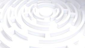 τρισδιάστατος κυκλικός λαβύρινθος ελεύθερη απεικόνιση δικαιώματος