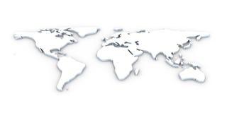 τρισδιάστατος κόσμος χαρτών Στοκ εικόνες με δικαίωμα ελεύθερης χρήσης