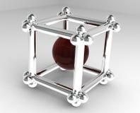 τρισδιάστατος κύβος Στοκ εικόνα με δικαίωμα ελεύθερης χρήσης