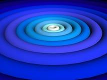 τρισδιάστατος μπλε έξοχος διανυσματική απεικόνιση