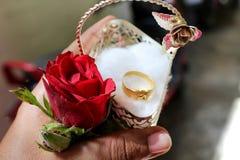 τρισδιάστατος παραγμένος γάμος δαχτυλιδιών εικόνας Στοκ Εικόνα