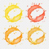 τρισδιάστατος ρεαλιστικός διαφανής διανυσματικός κυκλικός παφλασμός απεικόνιση αποθεμάτων