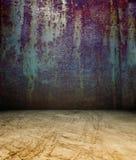 τρισδιάστατος σκουριασμένος τοίχος μετάλλων Στοκ φωτογραφίες με δικαίωμα ελεύθερης χρήσης