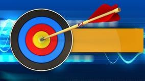 τρισδιάστατος στόχος με το χτύπημα βελών διανυσματική απεικόνιση