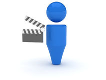 τρισδιάστατος τηλεοπτικός Ιστός εικονιδίων Στοκ φωτογραφίες με δικαίωμα ελεύθερης χρήσης