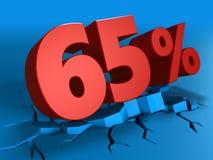τρισδιάστατος της έκπτωσης 65 τοις εκατό Στοκ φωτογραφία με δικαίωμα ελεύθερης χρήσης