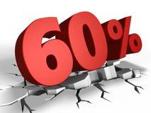 τρισδιάστατος της έκπτωσης 60 τοις εκατό Ελεύθερη απεικόνιση δικαιώματος