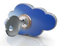 τρισδιάστατος υπολογισμός σύννεφων ασφαλής ελεύθερη απεικόνιση δικαιώματος