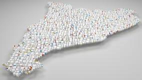 τρισδιάστατος χάρτης καταλωνίας - της Ισπανίας απεικόνιση αποθεμάτων