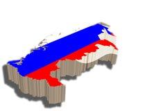 τρισδιάστατος χάρτης Ρωσί& Στοκ Εικόνες