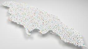 τρισδιάστατος χάρτης της Τζαμάικας - της Αμερικής απεικόνιση αποθεμάτων