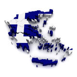 τρισδιάστατος χάρτης της &E Στοκ φωτογραφία με δικαίωμα ελεύθερης χρήσης