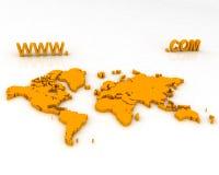 τρισδιάστατος χάρτης Στοκ φωτογραφίες με δικαίωμα ελεύθερης χρήσης