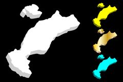 τρισδιάστατος χάρτης Kos απεικόνιση αποθεμάτων